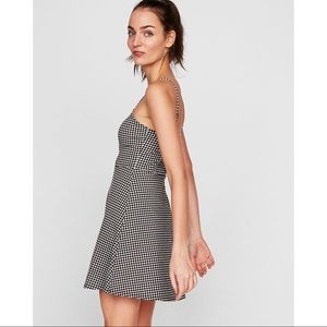 Express Black & White Gingham Dress